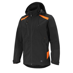 JAKKE SOFTSHELL SVART/ORANGE